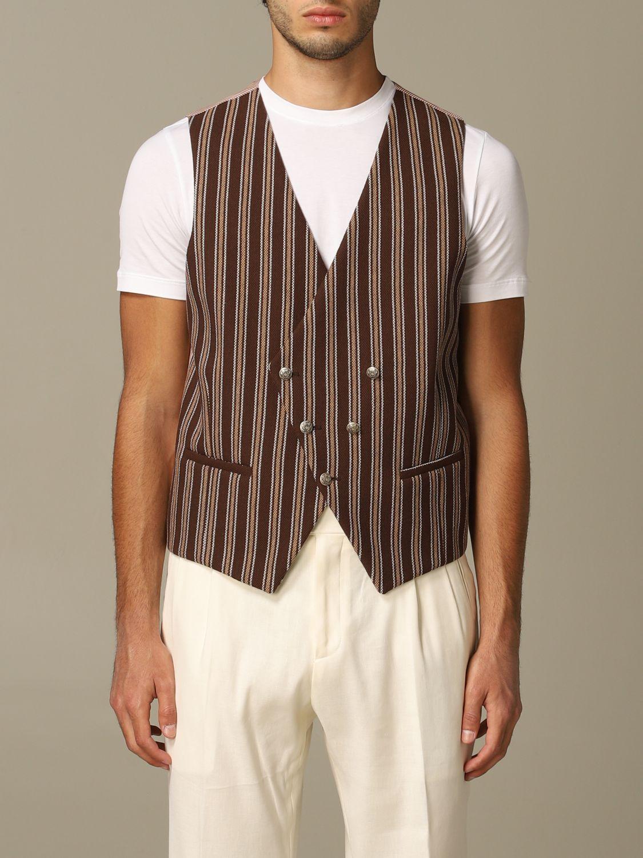 Suit vest Alessandro Dell'acqua: Alessandro Dell'acqua double breasted vest brown 1
