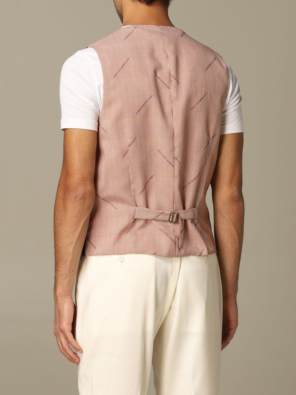 Suit vest Alessandro Dell'acqua: Alessandro Dell'acqua double breasted vest brown 2