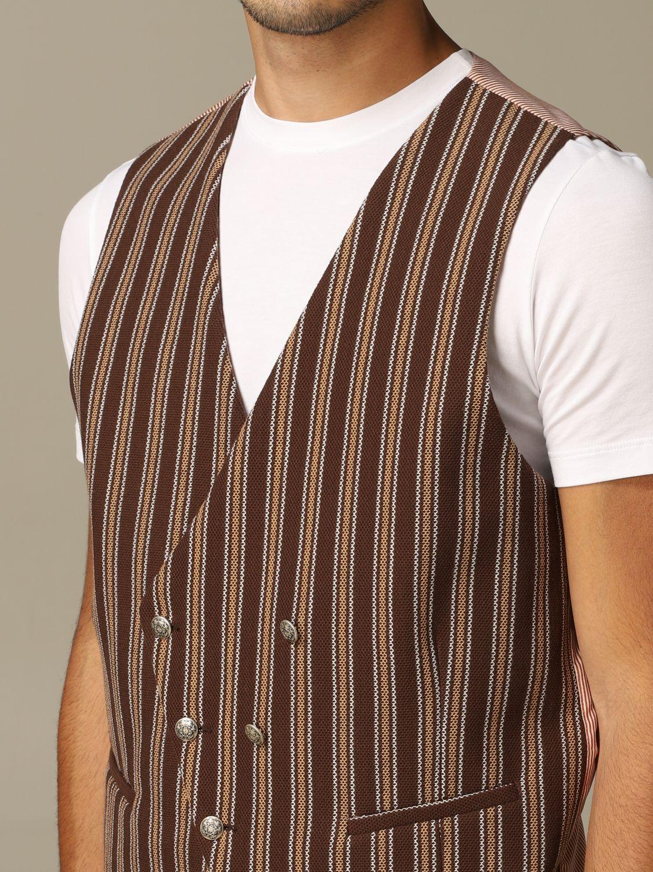 Suit vest Alessandro Dell'acqua: Alessandro Dell'acqua double breasted vest brown 3