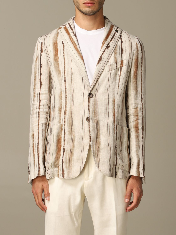Jacket Alessandro Dell'acqua: Alessandro Dell'acqua linen jacket brown 1