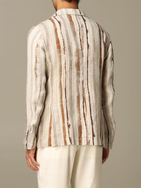 Jacket Alessandro Dell'acqua: Alessandro Dell'acqua linen jacket brown 2