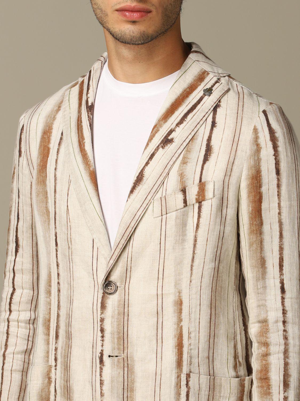 Jacket Alessandro Dell'acqua: Alessandro Dell'acqua linen jacket brown 3