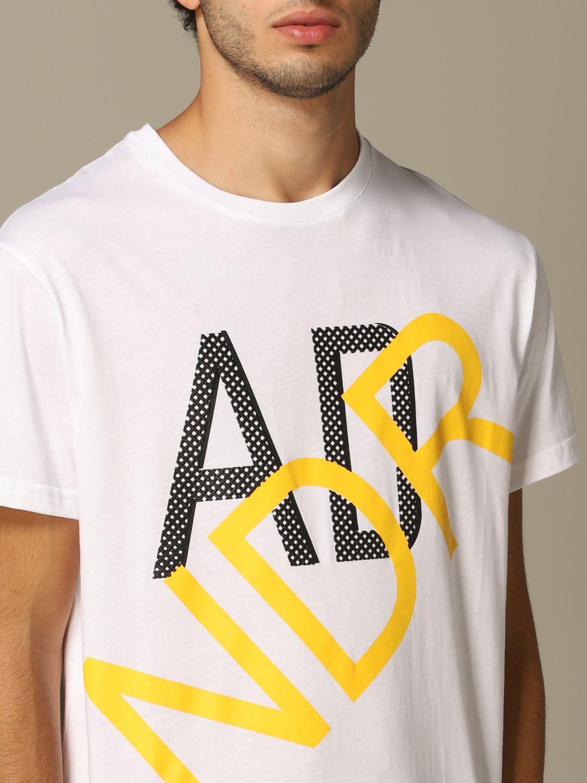 Sweater Alessandro Dell'acqua: Alessandro Dell'acqua t-shirt with logo white 3