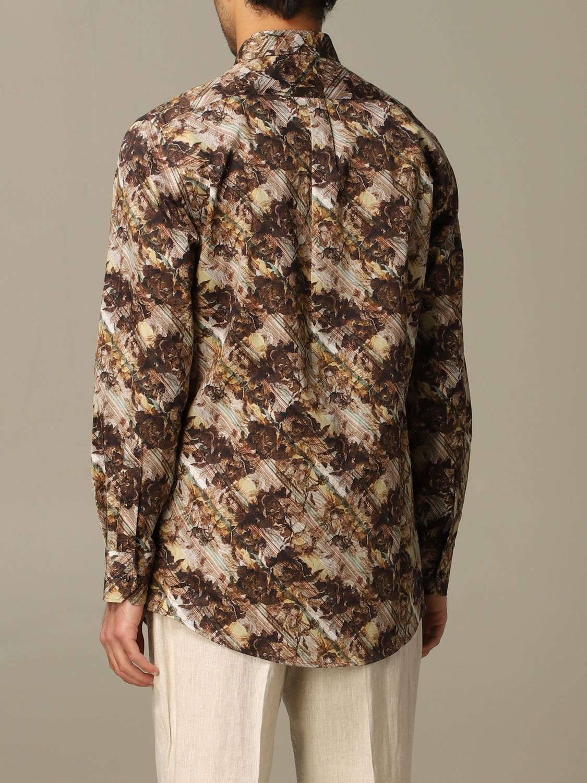 Shirt Alessandro Dell'acqua: Alessandro Dell'acqua printed shirt brown 2