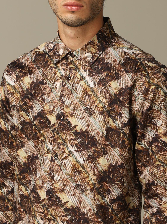 Shirt Alessandro Dell'acqua: Alessandro Dell'acqua printed shirt brown 3
