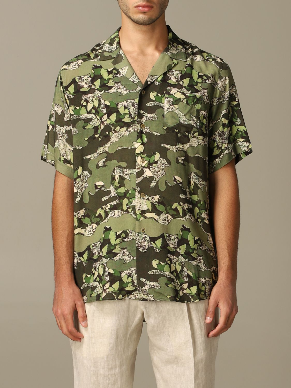 Shirt Alessandro Dell'acqua: Alessandro Dell'acqua printed shirt with short sleeves green 1
