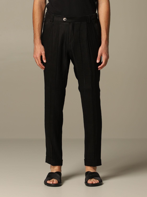 Pantalone Alessandro Dell'acqua: Pantalone Alessandro Dell'acqua elegante nero 1