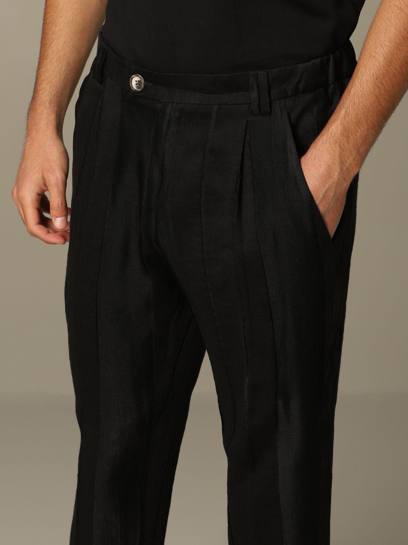 Pantalone Alessandro Dell'acqua: Pantalone Alessandro Dell'acqua elegante nero 3