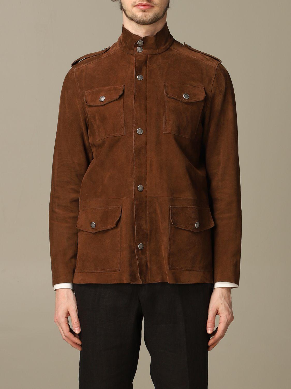Jacket Alessandro Dell'acqua: Jacket men Alessandro Dell'acqua mud 1