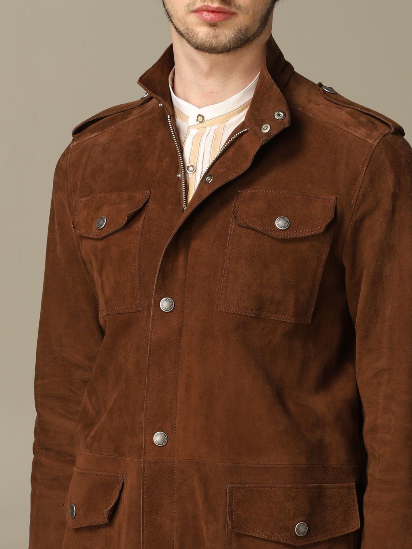 Jacket Alessandro Dell'acqua: Jacket men Alessandro Dell'acqua mud 3