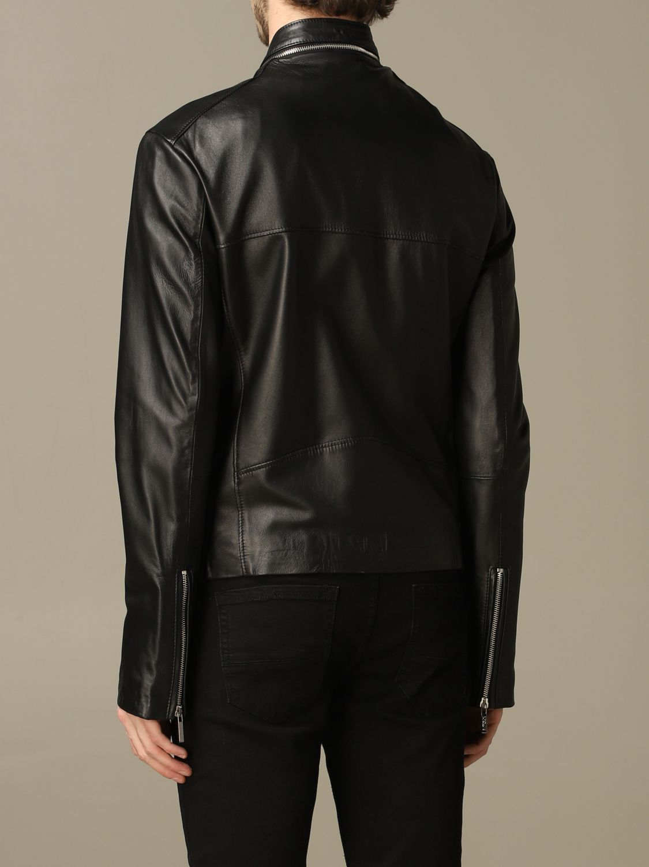 Jacket Alessandro Dell'acqua: Alessandro Dell'acqua nail with zip in real leather black 2