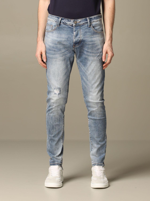 Jeans Alessandro Dell'acqua: Alessandro Dell'acqua jeans in used denim navy 1