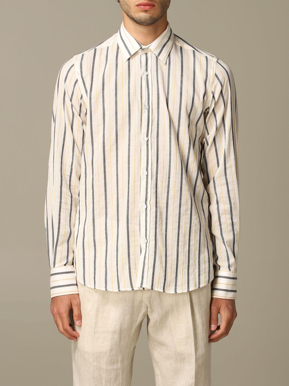 Shirt Alessandro Dell'acqua: Alessandro Dell'acqua striped shirt mustard 1