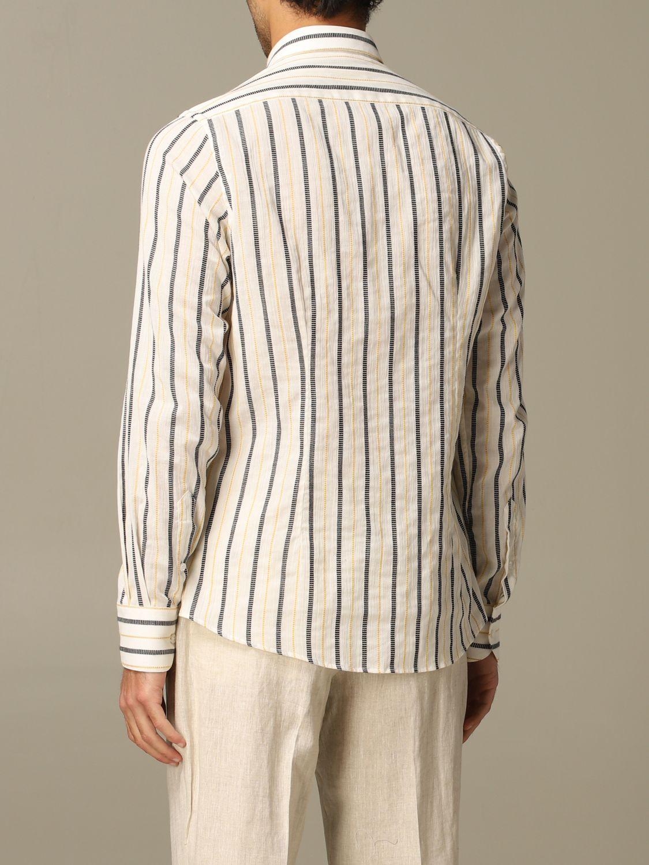 Shirt Alessandro Dell'acqua: Alessandro Dell'acqua striped shirt mustard 2