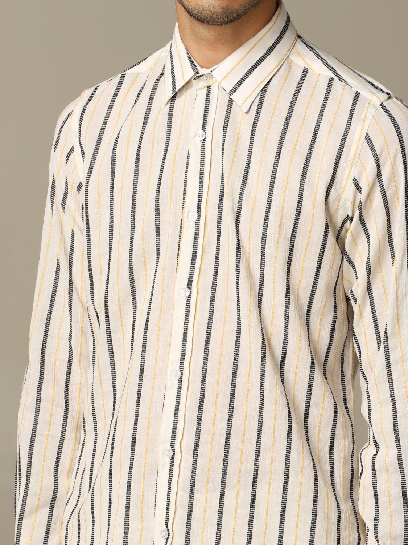 Shirt Alessandro Dell'acqua: Alessandro Dell'acqua striped shirt mustard 3