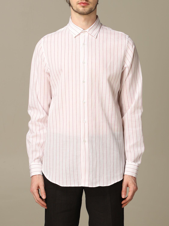 Camicia Alessandro Dell'acqua: Camicia Boss in lino e cotone con collo italiano bianco 1