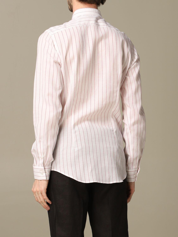 Camicia Alessandro Dell'acqua: Camicia Boss in lino e cotone con collo italiano bianco 2