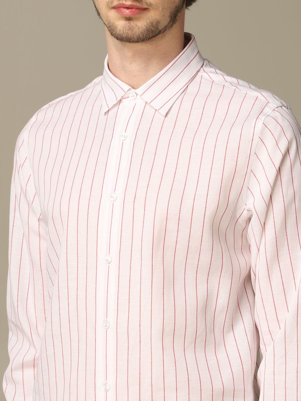 Camicia Alessandro Dell'acqua: Camicia Boss in lino e cotone con collo italiano bianco 3