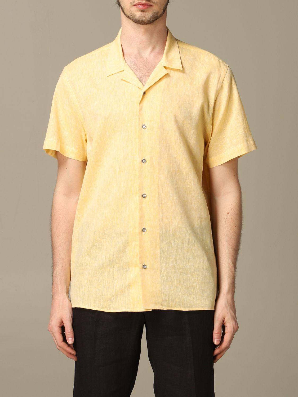 衬衫 Alessandro Dell'acqua: 衬衫 男士 Alessandro Dell'acqua 黄色 1