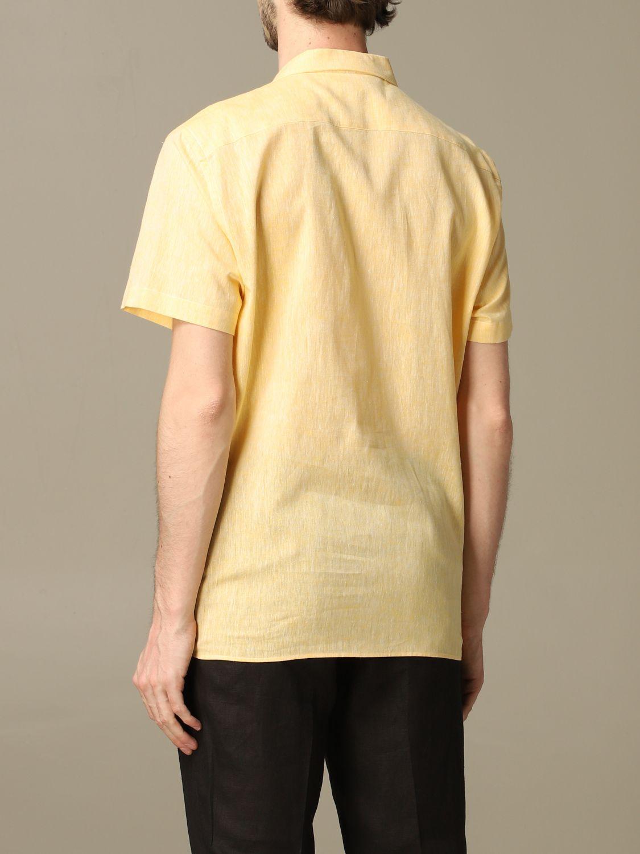 衬衫 Alessandro Dell'acqua: 衬衫 男士 Alessandro Dell'acqua 黄色 2