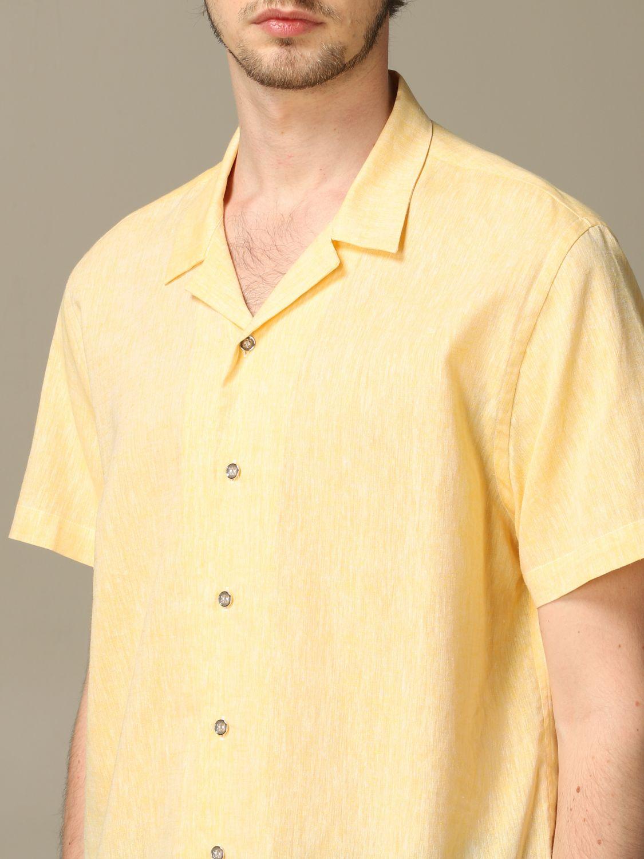 衬衫 Alessandro Dell'acqua: 衬衫 男士 Alessandro Dell'acqua 黄色 3