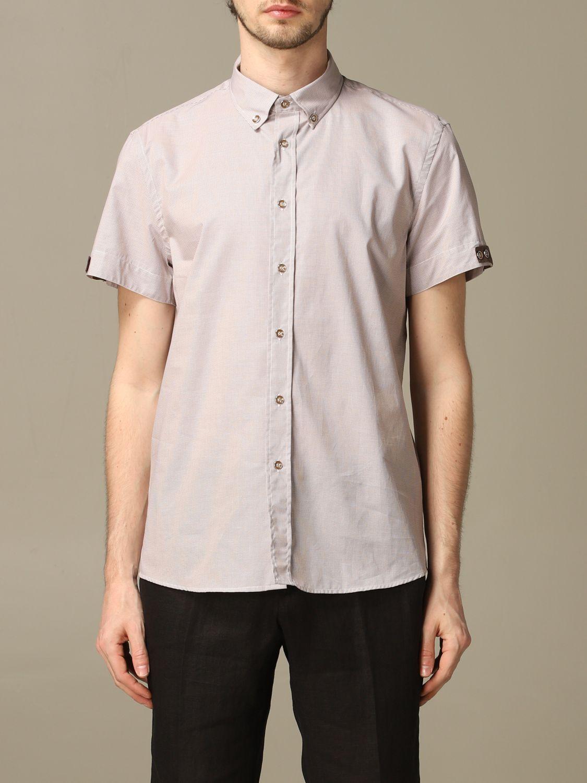 Camicia Alessandro Dell'acqua: Camicia Alessandro Dell'acqua con collo button down beige 1