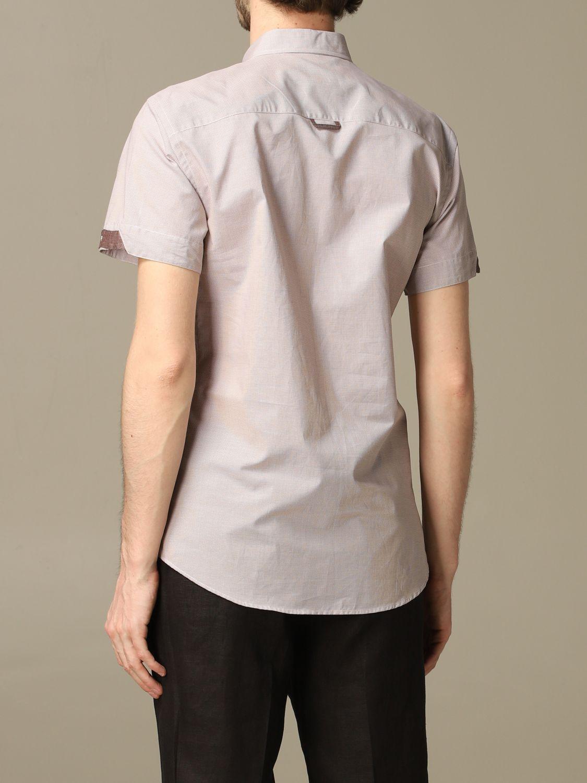 Camicia Alessandro Dell'acqua: Camicia Alessandro Dell'acqua con collo button down beige 2