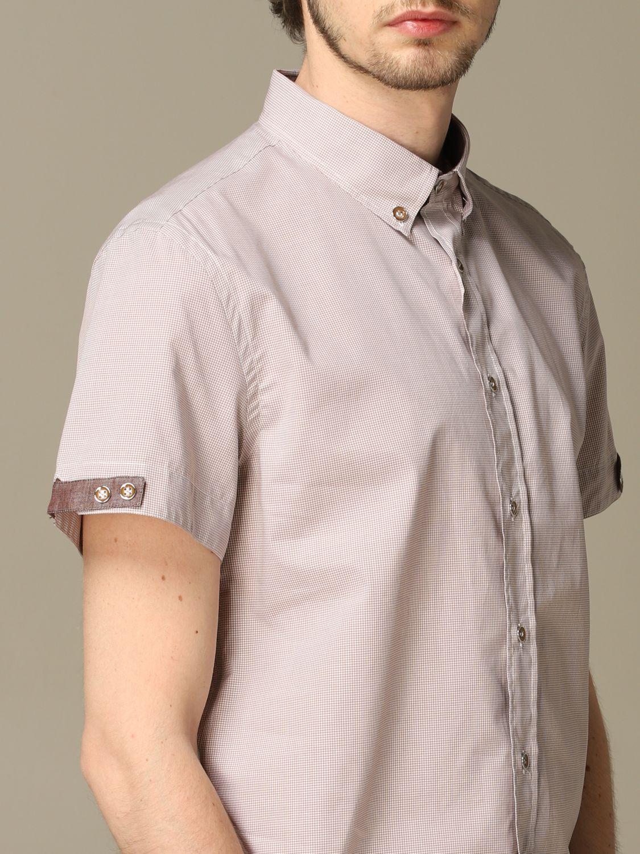 Camicia Alessandro Dell'acqua: Camicia Alessandro Dell'acqua con collo button down beige 3