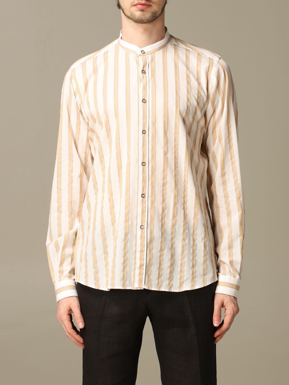 Shirt Alessandro Dell'acqua: Shirt men Alessandro Dell'acqua beige 1