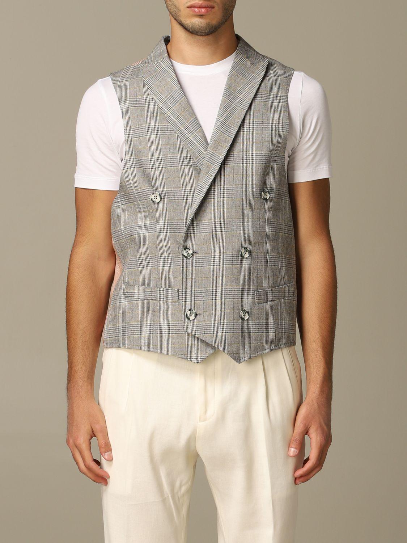 Suit vest Alessandro Dell'acqua: Alessandro Dell'acqua double breasted vest grey 1