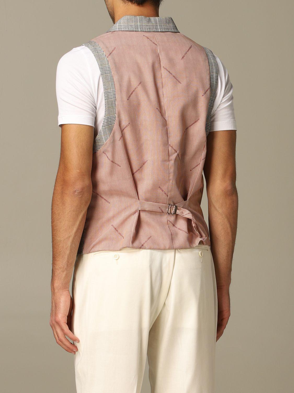 Suit vest Alessandro Dell'acqua: Alessandro Dell'acqua double breasted vest grey 2