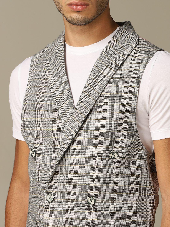 Suit vest Alessandro Dell'acqua: Alessandro Dell'acqua double breasted vest grey 3