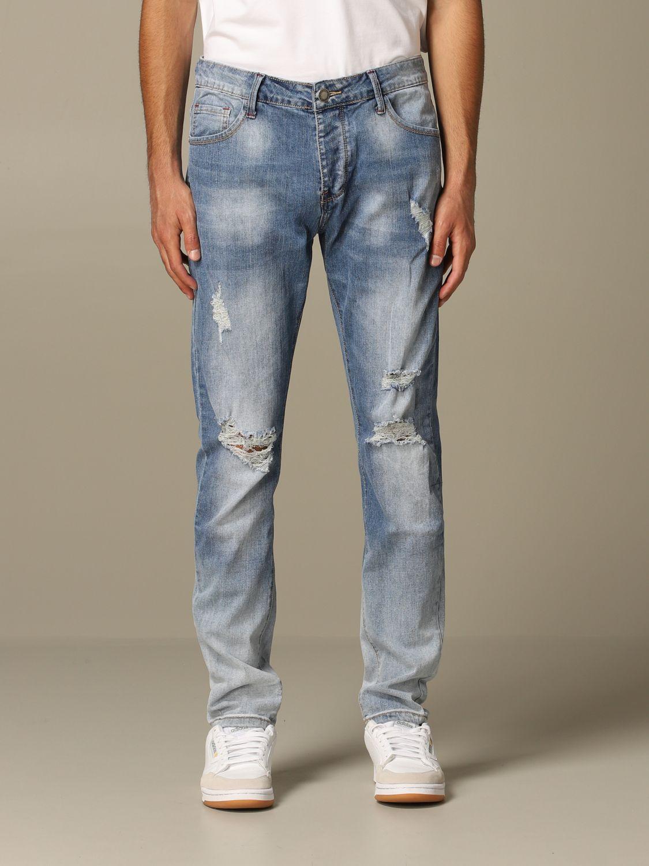 Jeans Alessandro Dell'acqua: Jeans men Alessandro Dell'acqua navy 1