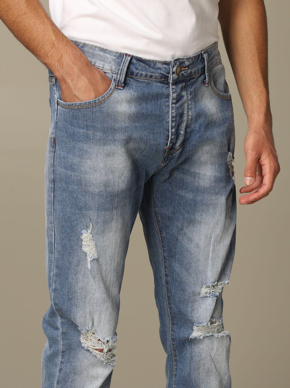 Jeans Alessandro Dell'acqua: Jeans men Alessandro Dell'acqua navy 3