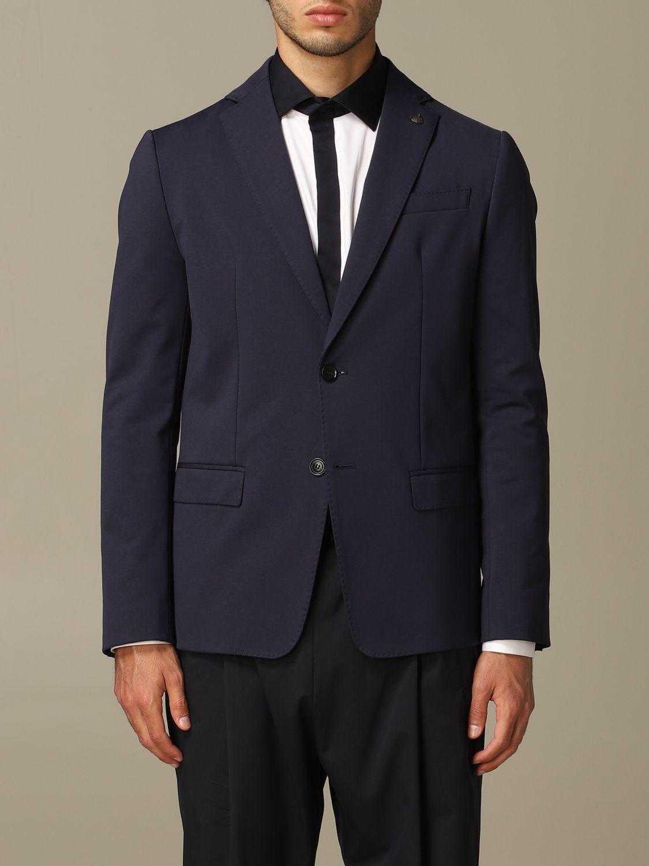 Jacket Alessandro Dell'acqua: Alessandro Dell'acqua single breasted jacket blue 1