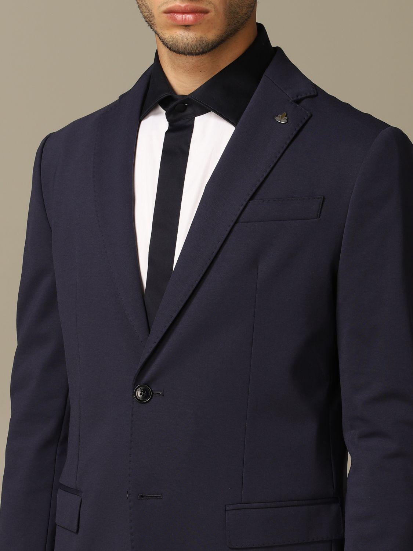 Jacket Alessandro Dell'acqua: Alessandro Dell'acqua single breasted jacket blue 3