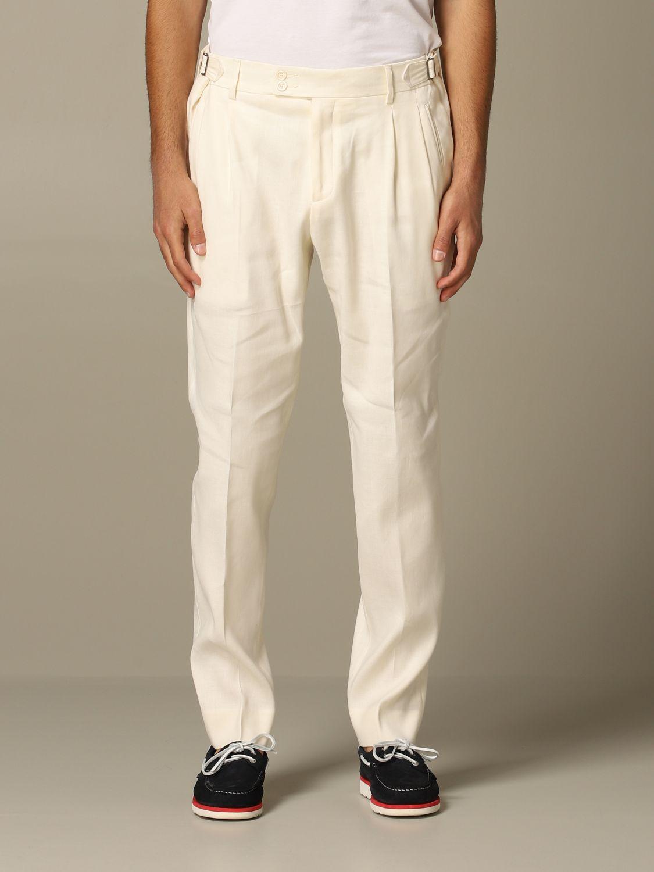 Trousers Alessandro Dell'acqua: Trousers men Alessandro Dell'acqua white 1