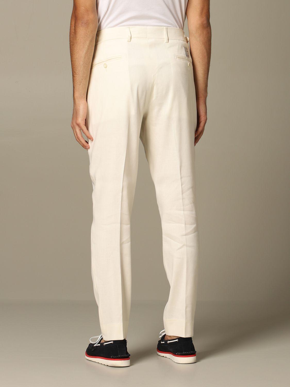 Trousers Alessandro Dell'acqua: Trousers men Alessandro Dell'acqua white 2