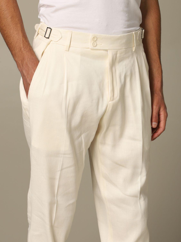 Trousers Alessandro Dell'acqua: Trousers men Alessandro Dell'acqua white 3