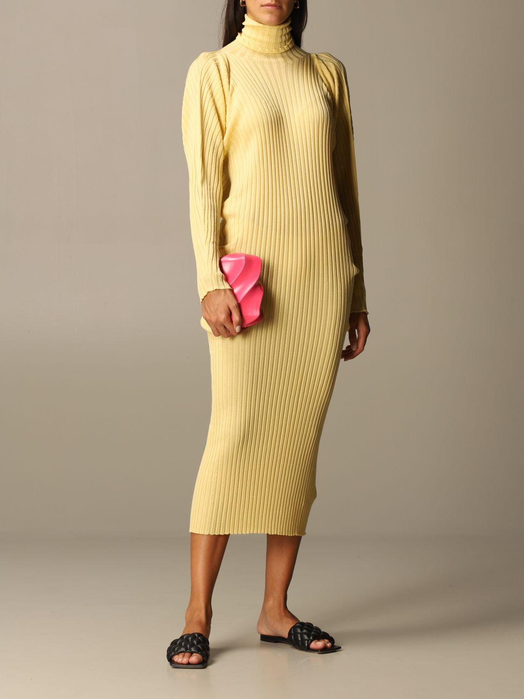 Dress Bottega Veneta: Short women Bottega Veneta yellow 2