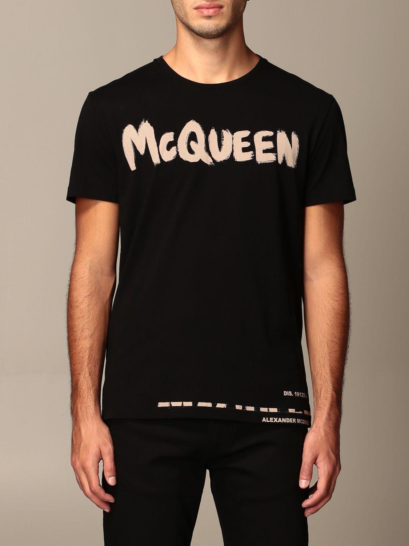 T-shirt Alexander Mcqueen: T-shirt men Alexander Mcqueen black 1