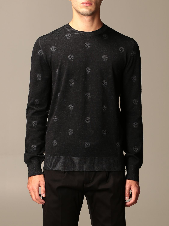 Sweater Alexander Mcqueen: Alexander McQueen sweater with all-over mini skulls black 1