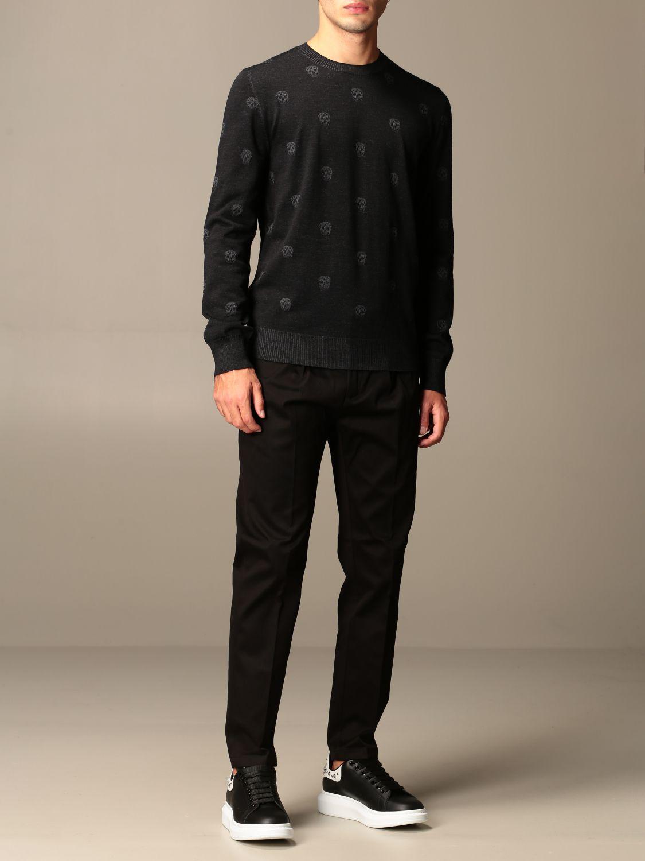 Sweater Alexander Mcqueen: Alexander McQueen sweater with all-over mini skulls black 2