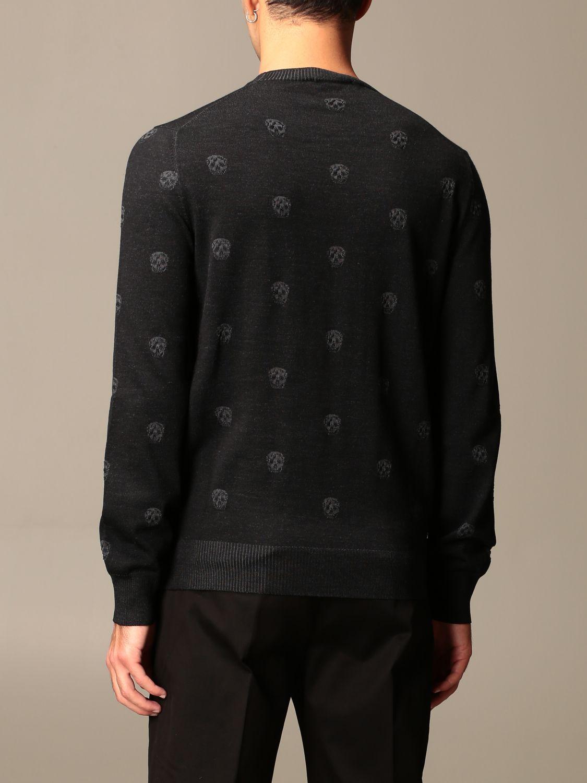 Sweater Alexander Mcqueen: Alexander McQueen sweater with all-over mini skulls black 3