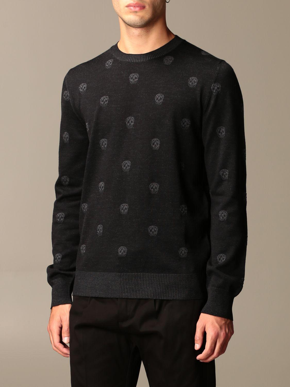 Sweater Alexander Mcqueen: Alexander McQueen sweater with all-over mini skulls black 4