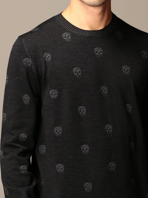 Sweater Alexander Mcqueen: Alexander McQueen sweater with all-over mini skulls black 5