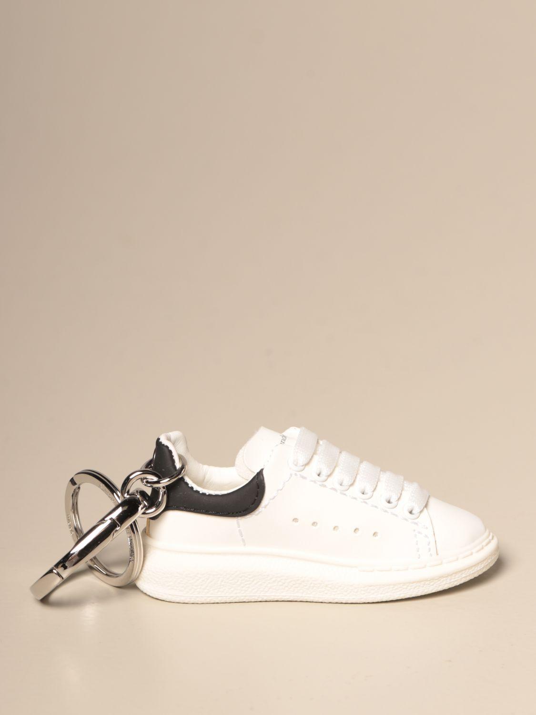 Portachiavi Alexander Mcqueen: Portachiavi Alexander McQueen a forma di sneakers bianco 1
