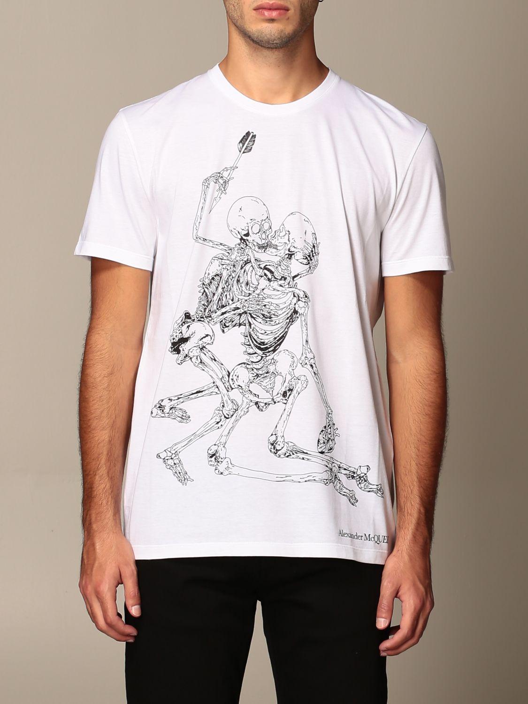 T-shirt Alexander Mcqueen: T-shirt men Alexander Mcqueen white 1