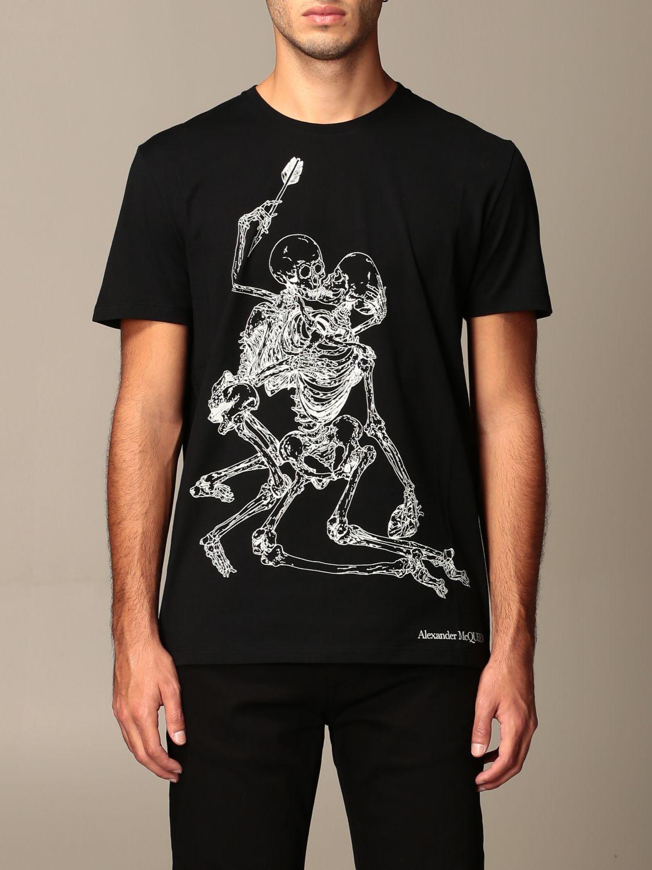 T-shirt Alexander Mcqueen: T-shirt homme Alexander Mcqueen noir 1