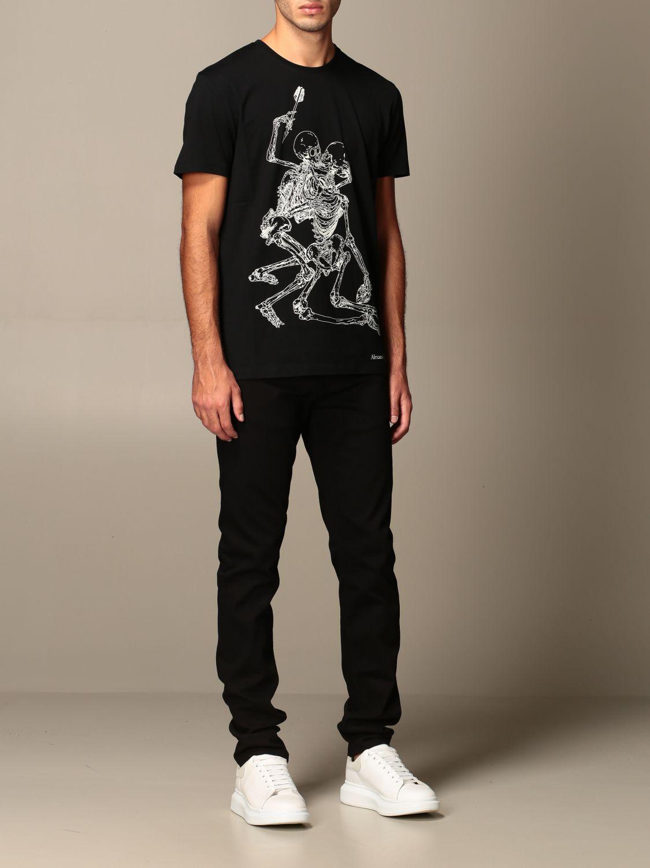 T-shirt Alexander Mcqueen: T-shirt homme Alexander Mcqueen noir 2